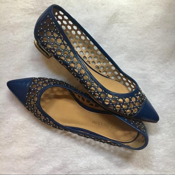 Enzo Angiolini Ea Arabella Perforated Pointy Flats 94b7075c5f